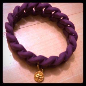 Marc by Marc Jacobs purple braided rubber bracelet